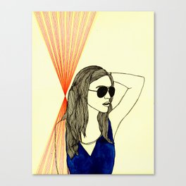 Long hair, don't care. Canvas Print