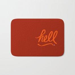 hell - 31daysofcursing Bath Mat