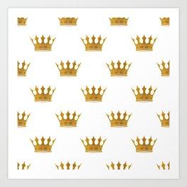Wedding White Gold Crowns Art Print