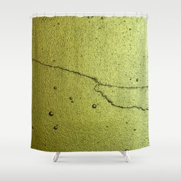 Lime glass Shower Curtain