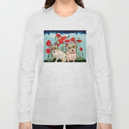 West Highland Terriers by RobiniArt Long Sleeve T-shirt