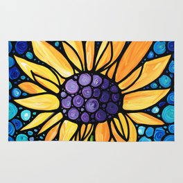 Standing Tall - Sunflower Art By Sharon Cummings Rug
