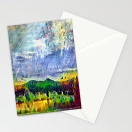 From Sunriver: Mt. Bachelor (Salt Watercolor) Stationery Cards