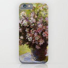 Claude Monet Bouquet of Mallows 1880 iPhone Case
