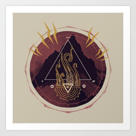 Mountain of Madness (alternate) Art Print