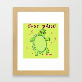 Just dance turtle Framed Art Print