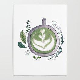 Matcha mug Poster