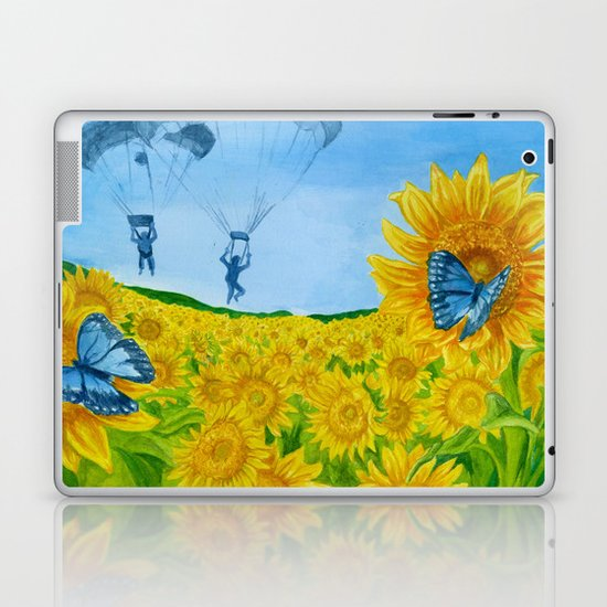 Blue Butterflies Laptop & iPad Skin