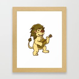 Guitar Lion Framed Art Print