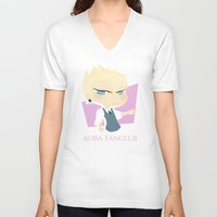 dmmd V-neck T-shirts featuring The Faded Yakuza B by Collette Ren