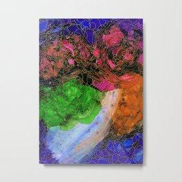 Space Garden in Technicolor Metal Print