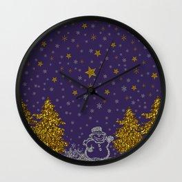 Beautiful glitter New Year Wall Clock
