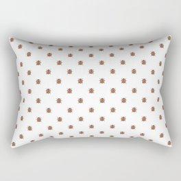 Lucky Ladybug Watercolor Print Pattern Rectangular Pillow