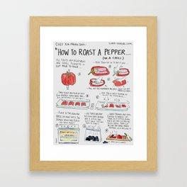 How to Roast A Pepper Framed Art Print
