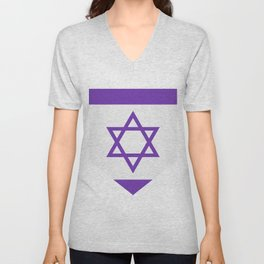 israel flag Unisex V-Neck