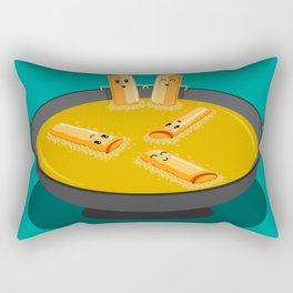 Deep Fry Spring Rolls Hot Tubbing Rectangular Pillow