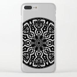 Polish Papercut Dancers Black Clear iPhone Case