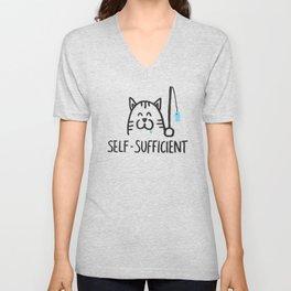 Self-Sufficient Unisex V-Neck