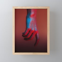 Red Hot Hands 2 of 4 - Modern Photography Framed Mini Art Print
