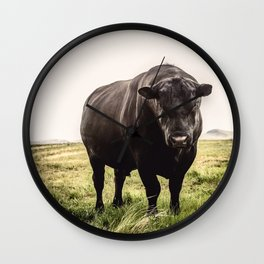 Big Black Angus Bull Wall Clock