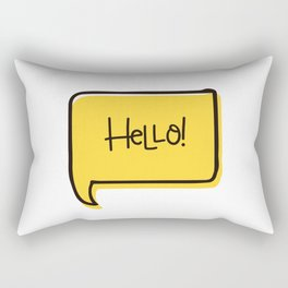 HELLO (BUBLE) Rectangular Pillow