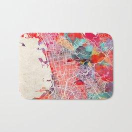 Berkeley map California painting 2 Bath Mat