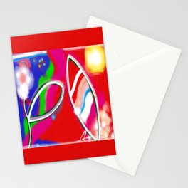 Flower and leaf in the sun Stationery Cards