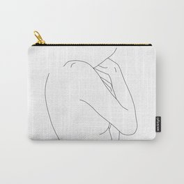 Figure line drawing illustration - Dorri Carry-All Pouch