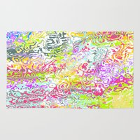 confetti Area & Throw Rugs featuring Confetti by Abstract Designs