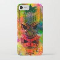 karu kara iPhone & iPod Cases featuring Tiki Kara by Ionic Slasher