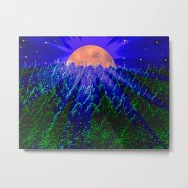 Digital moonlight Metal Print