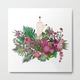 Botanical Bird Bouquet Metal Print