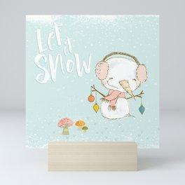 Let it Snow 01 Mini Art Print