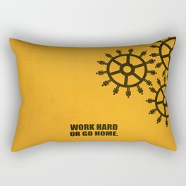 Lab No.4 -Work Hard Or Go Home Corporate Startup Quotes poster Rectangular Pillow