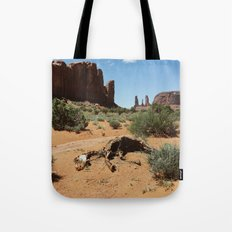 Monument Valley Horse Carcass Tote Bag