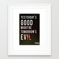 metal gear solid Framed Art Prints featuring Metal Gear Solid Quote by Stuff Alaska Does
