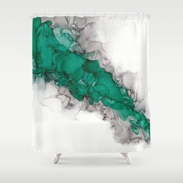 Study in Green Shower Curtain