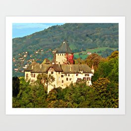 Chateau de Blonay Art Print
