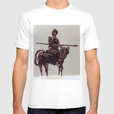 Don Quixote by Shimon Drory Mens Fitted Tee MEDIUM White