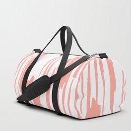 Pretty Pink Brush Stripes Vertical Duffle Bag