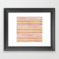 Robayre Watercolor Lines Framed Art Print