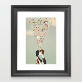 love thoughts Framed Art Print