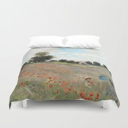 1873-Claude monet-Poppy Field-50 x 65 Duvet Cover
