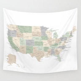 """Map of the USA, """"Anouk"""" Wall Tapestry"""