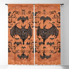 Bats and Filigree - Halloween Blackout Curtain