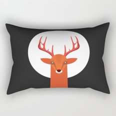 Deer and Moon Rectangular Pillow