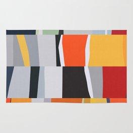 Colorful art in bands I Rug