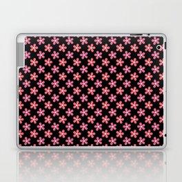 Happy Flowers on Black Laptop & iPad Skin