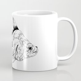 Green Fishy B&W Coffee Mug
