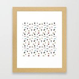 Pattern of Klaine things Framed Art Print